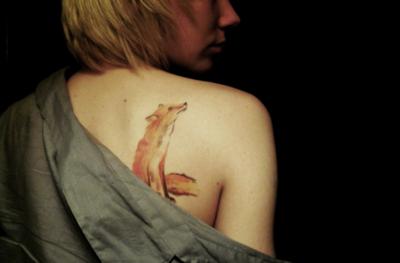 watercolour fox/
