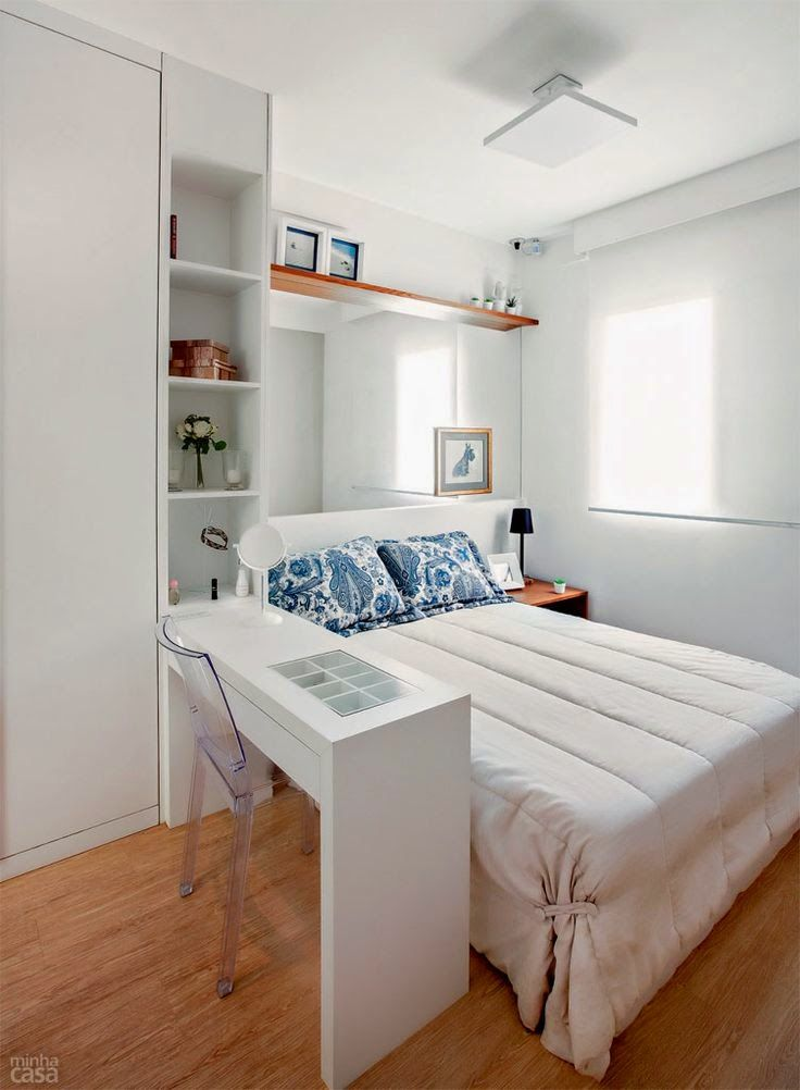 21 fotos de decoraci n de dormitorios peque os modernos for Decorar apartamentos modernos pequenos
