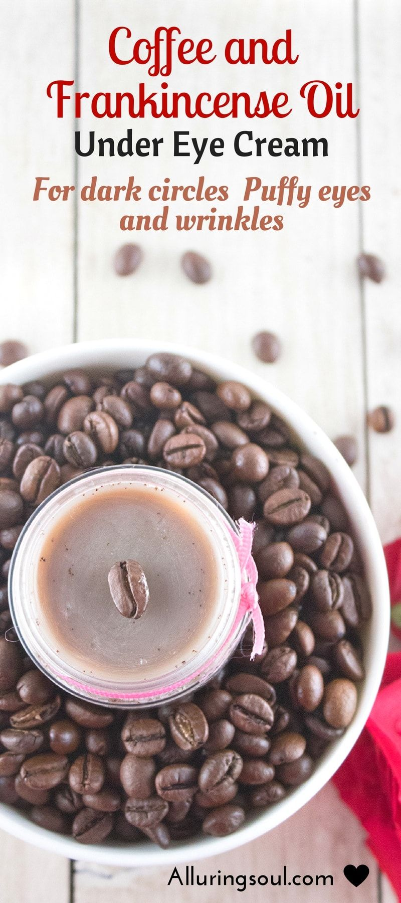 DIY Coffee And Frankincense Under Eye Cream For Wrinkles