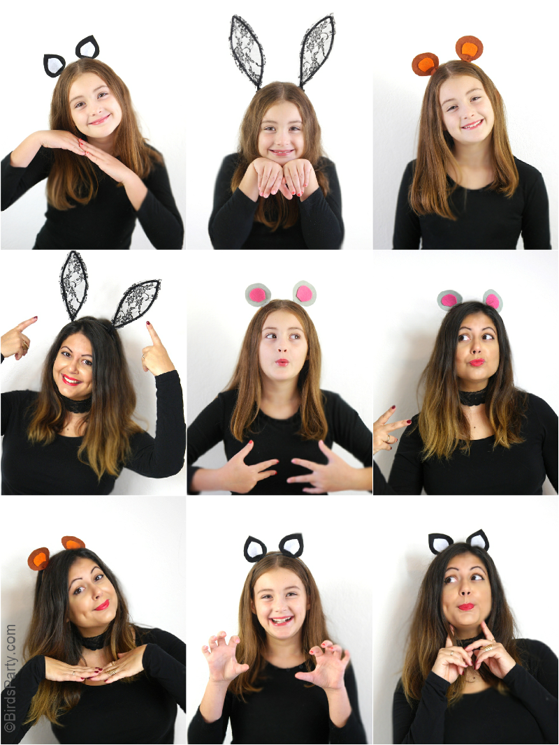 Diy Animal Ear Headbands For Halloween Halloween Headband Animal Costumes Diy Diy Halloween Headbands