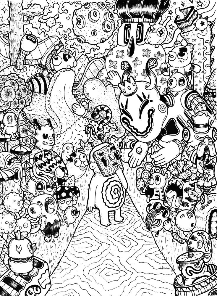 Welcome And Enjoy Monster Coloring Pages Doodle Art Designs Doodle Coloring