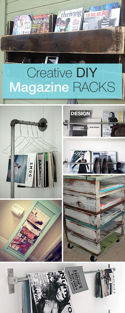 Creative DIY Magazine Racks | Diy projects, Diy, Diy furniture