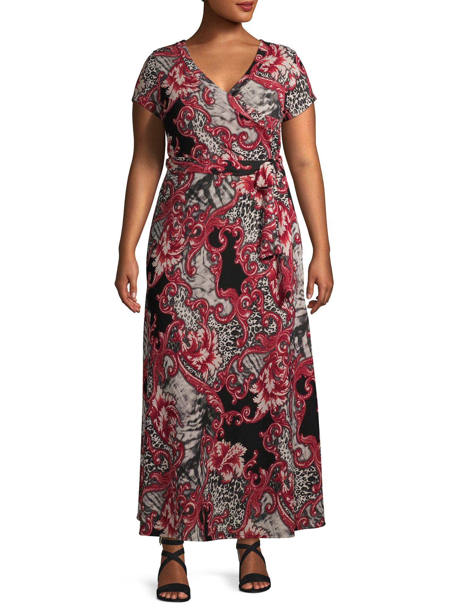 Ella Samani Ella Samani Plus Size Short Sleeve Maxi Wrap Dress Walmart Com Maxi Wrap Dress Dresses Wrap Dress [ 2000 x 1500 Pixel ]