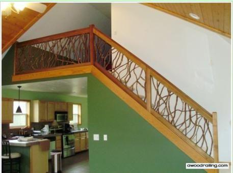 Best Branch Handrail Staircase Interior Mountain Laurel Stair 640 x 480