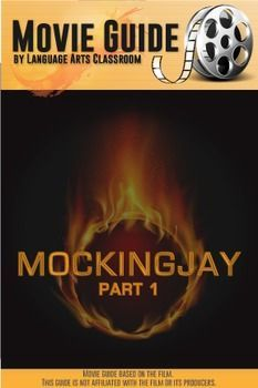 """This guide accompanies the movie """"Mockingjay, Part One."""" The movie is rated PG-13. The guide has 20 questions in chronological order of the movie and three critical questions, which allows for more sophisticated answers for older students. This guide is ready to use and works well for a substitute teacher - it has answers which would suffice as lesson plans."""