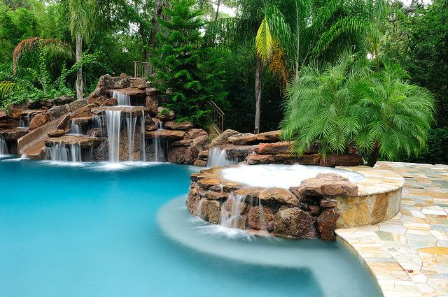 Platinum Pools Slide And Waterfall Pool Prices Dream