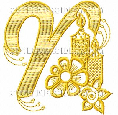 This free embroidery design is from cute embroiderys fun font its this free embroidery design is from cute embroiderys fun font its the letter n spiritdancerdesigns Choice Image