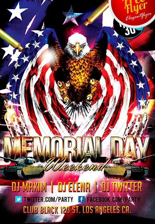 Free Independance Day Weekend Party Flyer Template  Http