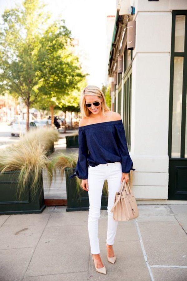 6a7938d42c00 45 Casual White Jeans Outfits for 2016 | Styles I like | Fashion ...