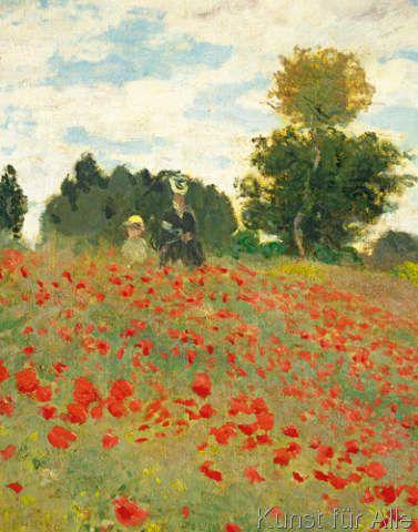 Claude Monet Mohnfeld Bei Argenteuil Detail Claude Monet Mohnfelder Monet