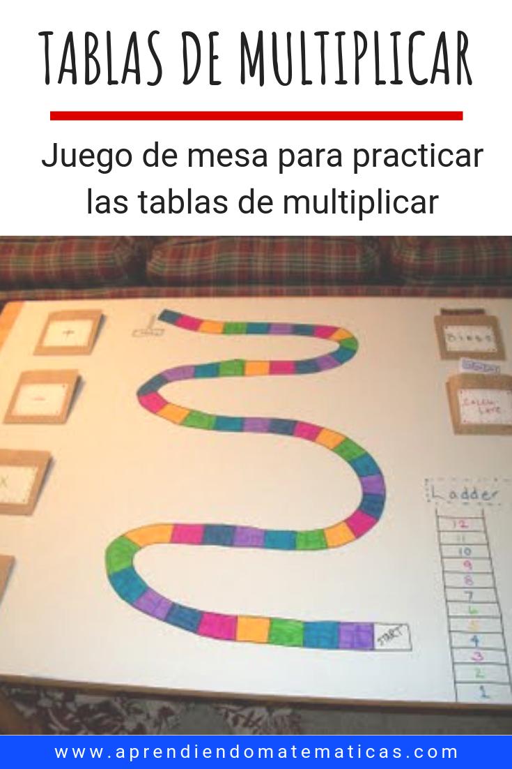 Juego De Mesa Para Practicar Las Tablas De Multiplicar Instrucciones Am Tablas De Multiplicar Tablas De Multiplicar Juegos Juegos Para Multiplicar