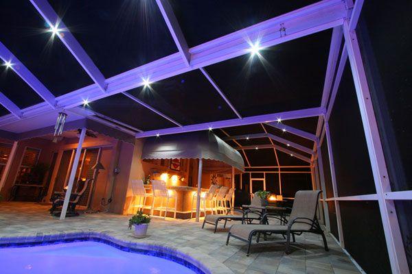 nebula lighting lanai lighting pool