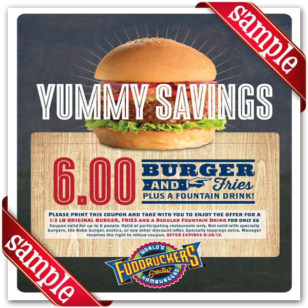 picture relating to Fuddruckers Coupons Printable named Fuddruckers Printable Coupon December 2016 Coupon codes for