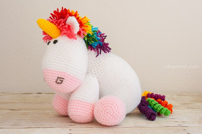 Rainbow Cuddles Crochet Unicorn Pattern | Unicornio, Arco iris y Iris