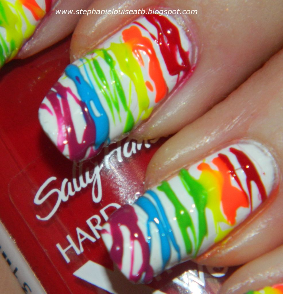 Nail Challenge 2012 Day 9 Rainbow Spun Sugar Mani Pinterest