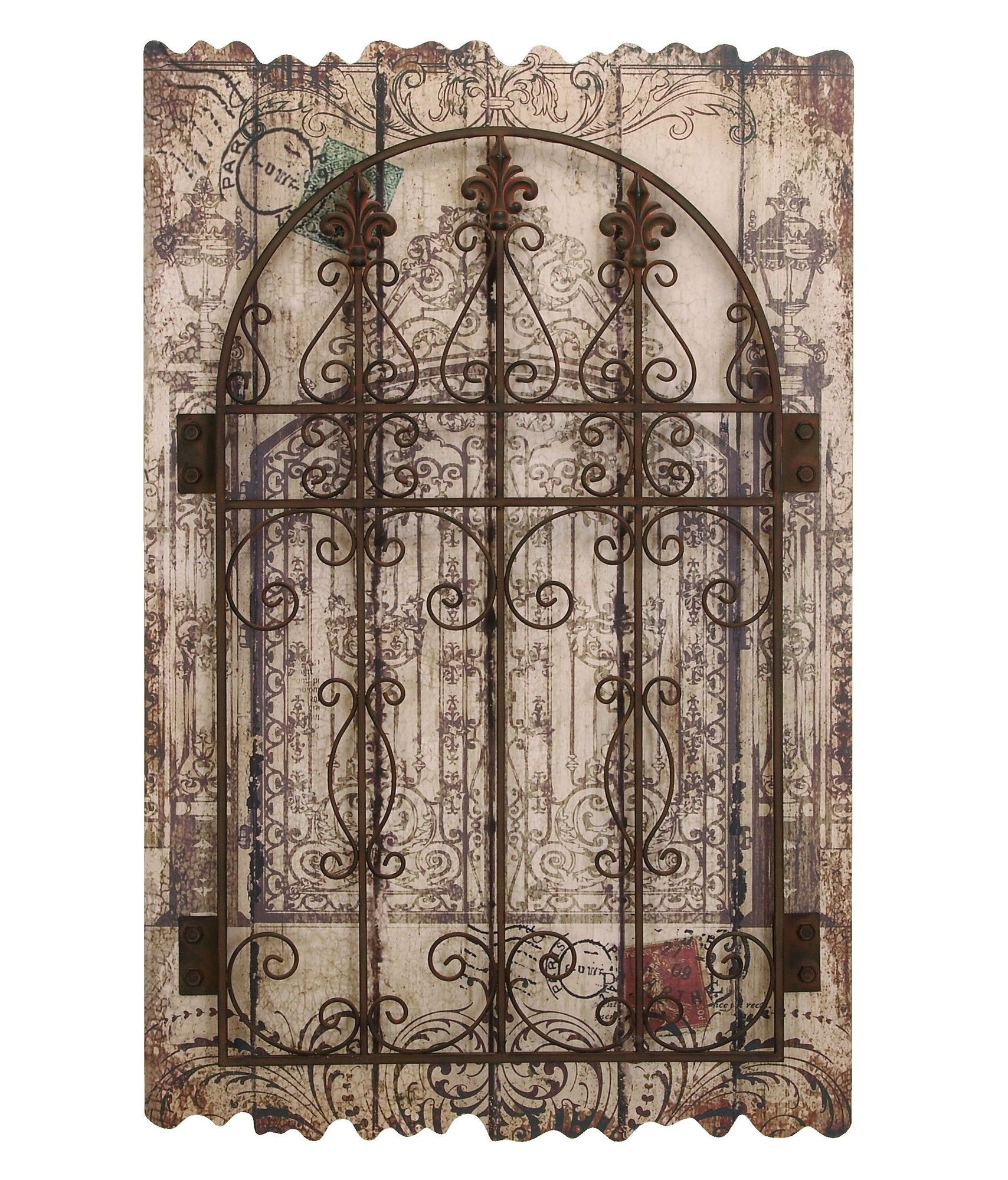 Woodland Imports Attractive Wood Panel Wall D�cor: Woodland Imports Décor Rustic Intricated Wall Décor