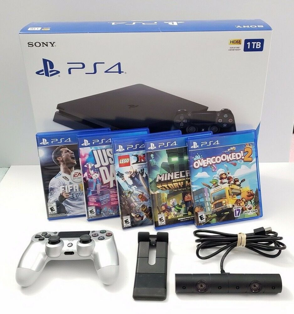Sony Playstation 4 Slim 1tb Gaming Console With Total 2 Controller And Camera Ps4 Gaming Video Playstation 4 Playstation Gaming Console