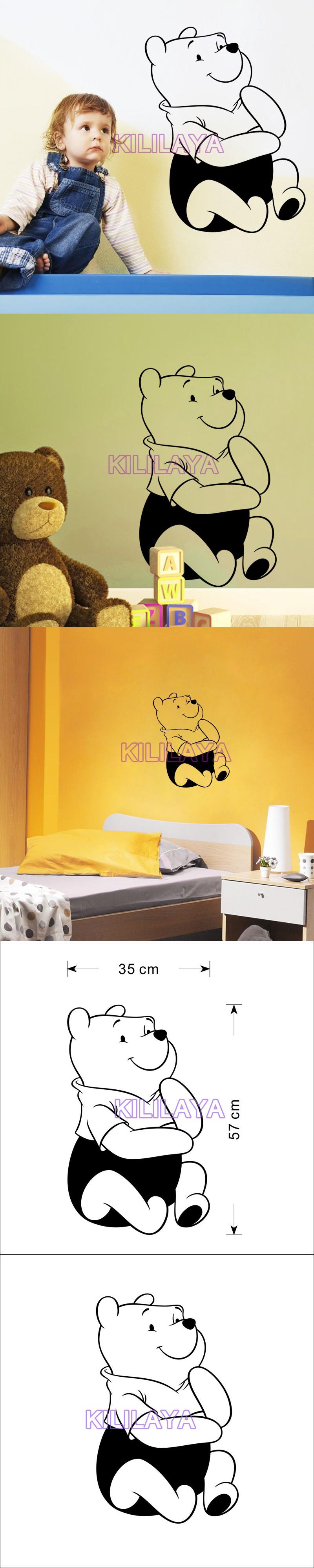 Cartoon Cute Bear Vinyl Wall Stickers for Baby Kids Children Room ...