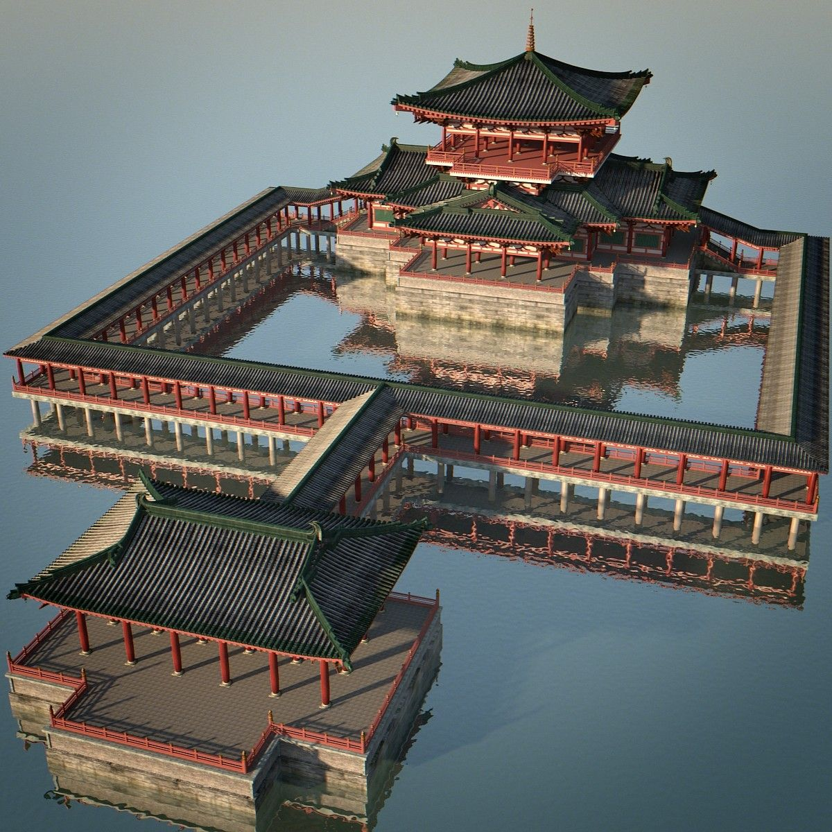 3d Chinese Palace Chinese Architecture
