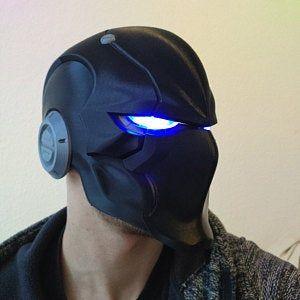 Red Ronin Helmet 3D Printed