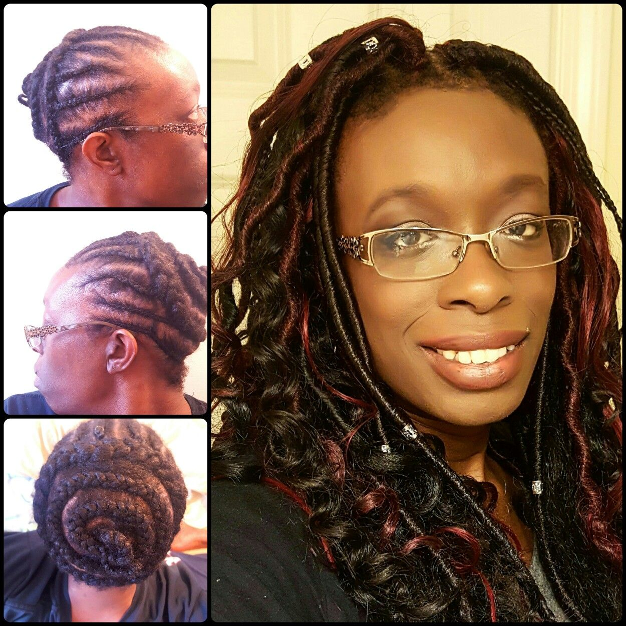 Bohemian Gypsy Hairstyle Done Using Faux Locs Goddess Two Different Types Of
