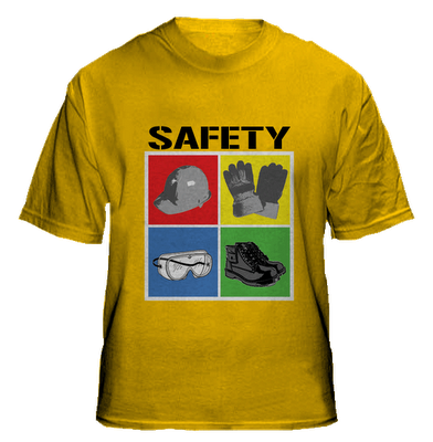 Design Shirts With A Picture Of Safety Equipment Health
