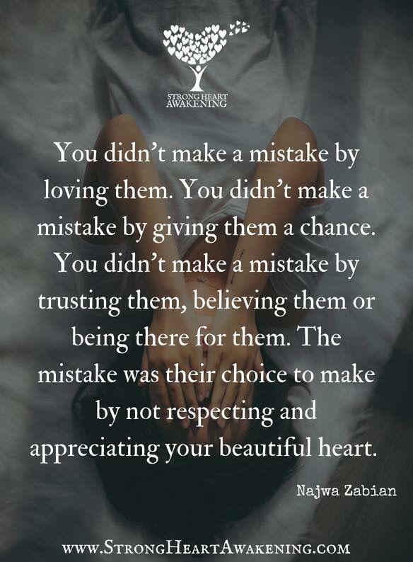 You didn't make a mistake