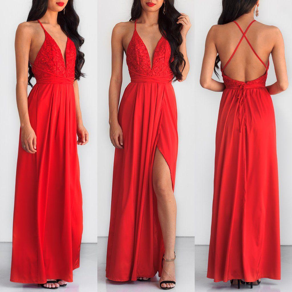 Star of the show maxi dress red vestido pinterest dresses