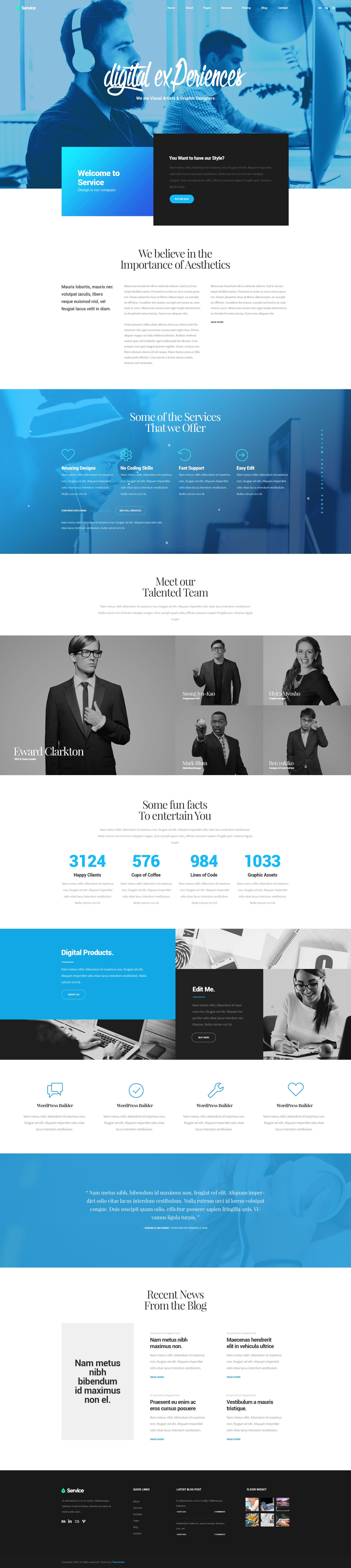 Services Modern Multipurpose Psd Template By Themerella Themeforest Web Layout Design Web Design Flat Web Design