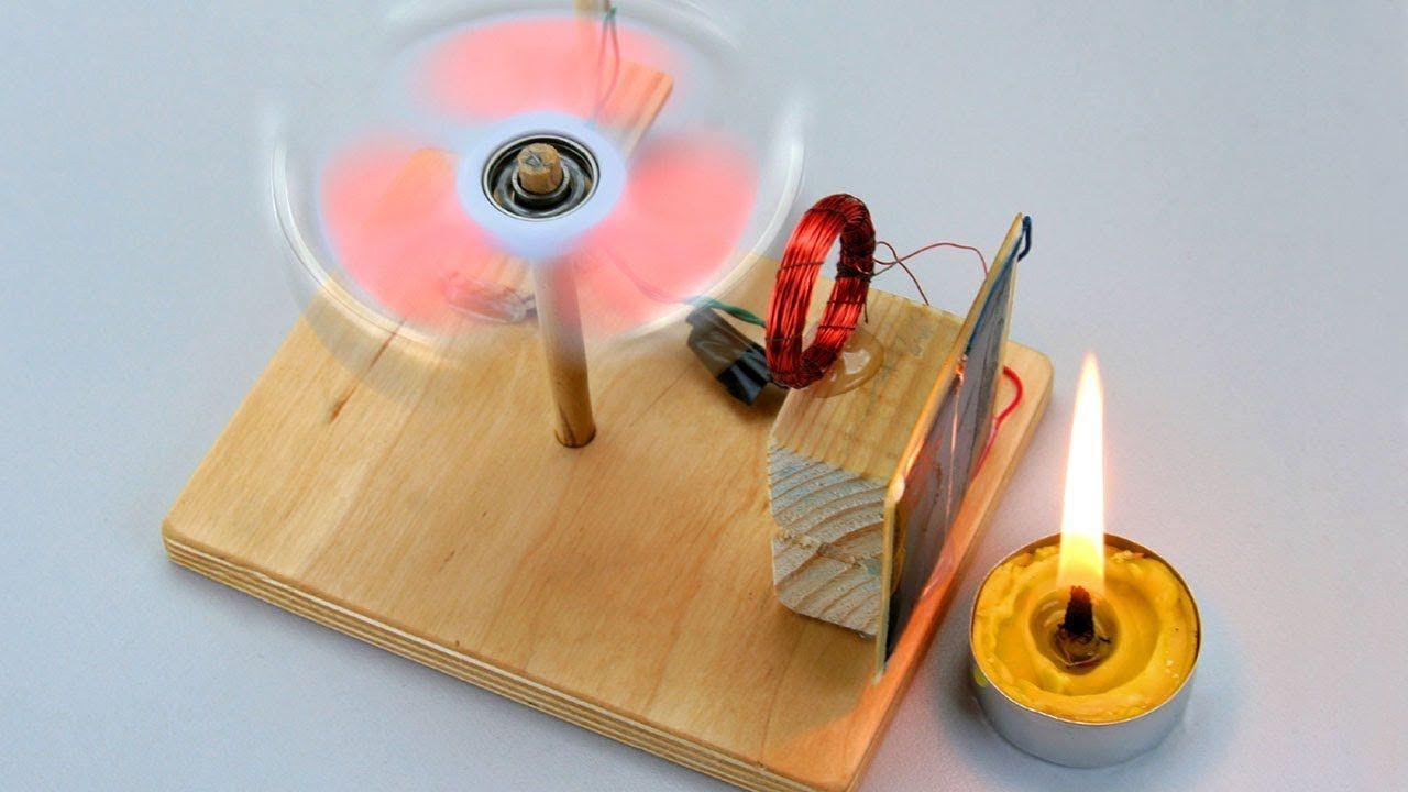 FREE ENERGY! Solar Brushless Motor out of Fidget SPINNER