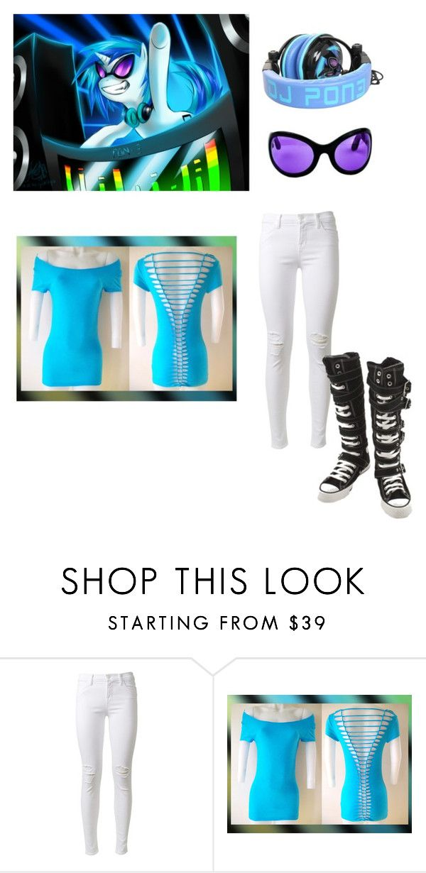 """Vinyl scratch"" by creepy-pasta-anon ❤ liked on Polyvore featuring J Brand, Converse, women's clothing, women's fashion, women, female, woman, misses and juniors"