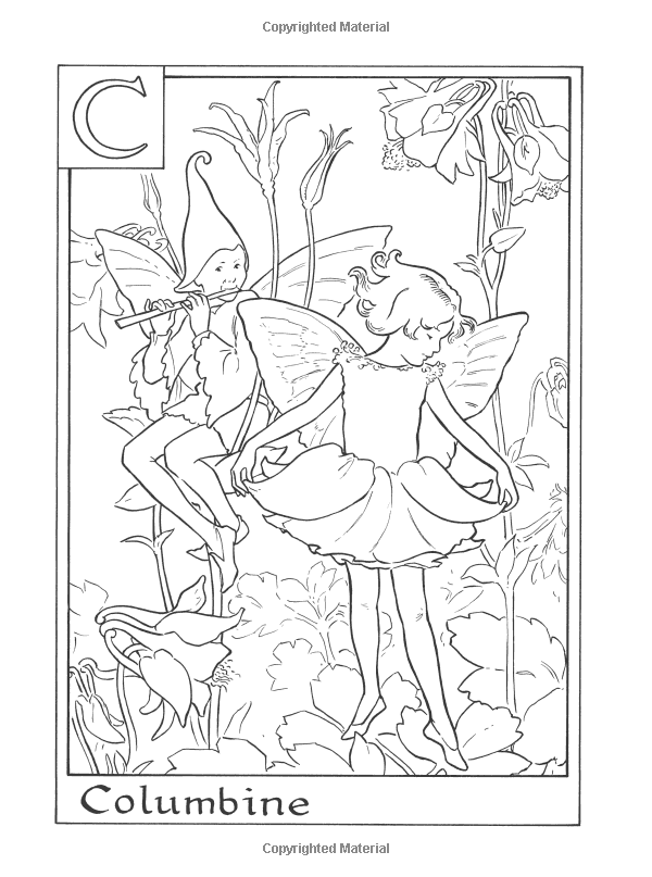 Amazon Com Flower Fairies Alphabet Coloring Book 9780723264965 Cicely Mary Barker Books Fairy Coloring Pages Coloring Books Fairy Coloring