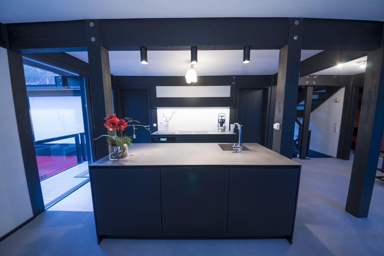Küche, Bora, Beleuchtung, aluminium Balken beleuchtung blume boden ...