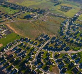 This Is A Picture Of A Urban Sprawl Taking Over Farm Land Causing