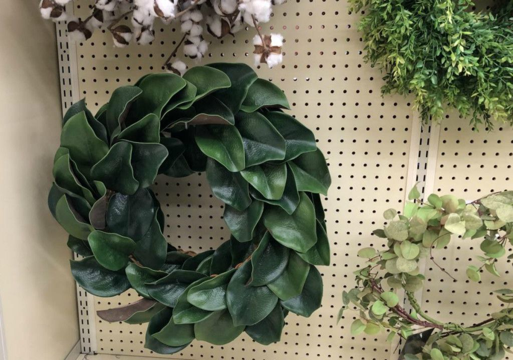 Hobby Lobby Lookalike Wreath Magnolia Wreath Magnolia Leaf Wreath Kitchen Wreath