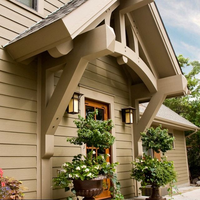 Awning Idea For Front Door Craftsman Exterior House Exterior