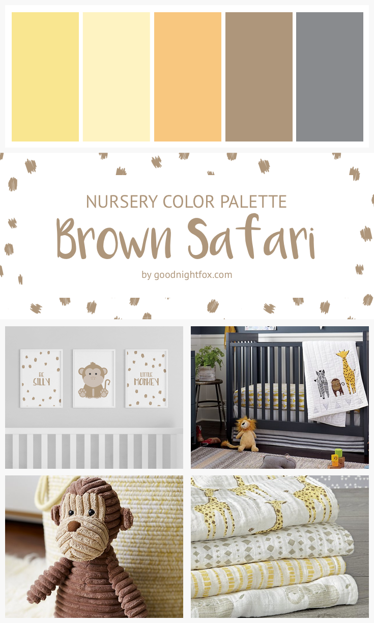 Brown Safari Nursery Color Palette