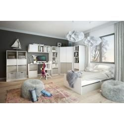 Photo of Desk Fushana 04, color: beech / white / champagne – 75 x 140 x 60 cm (H x W x D) Easy MöbelEa – https://hangiulkeninmali.com/dekor
