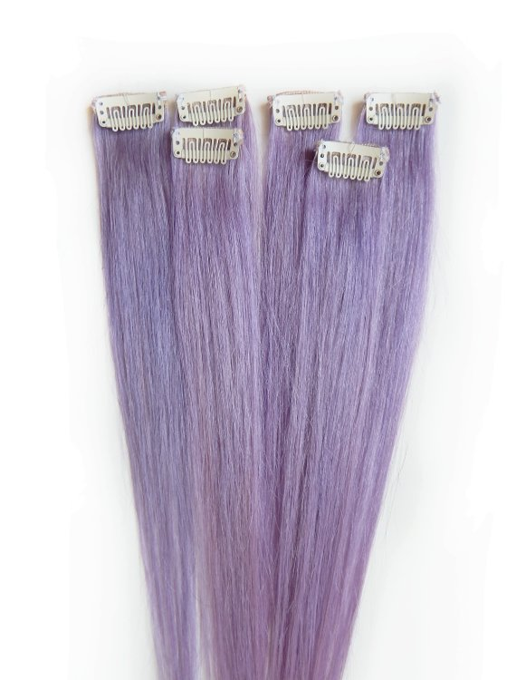 hair extensions lavender