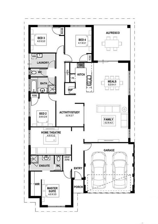 My venice home designs perth single storey design two house also rh pinterest