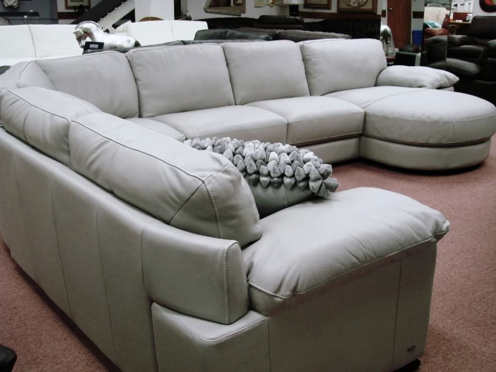 Natuzzi Editions Leather Sectionals B684 Cognac Leather Sale Best Price On Natuzzi Sectional