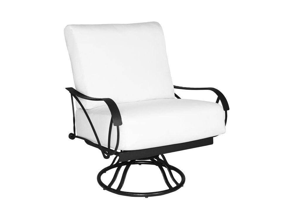 Legendary Deep Seating Steel Cushion Arm Swivel Rocker