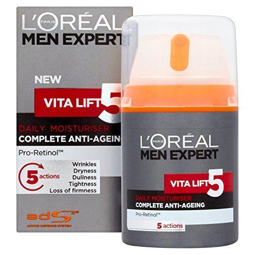 L Oreal Men Expert Vita Lift 5 Anti Ageing Moisturiser Moisturiser Daily Moisturizer Natural Skin Care Shop