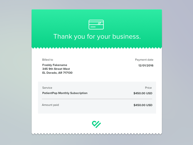 Monthly Email Invoice Reciept Invoice Design Email Design Invoice Template