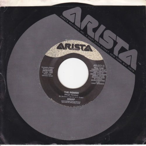 Snap / The Power (2 Versions) / 7'' 45 RPM Vinyl Record / Arista 2013 / RARE EX