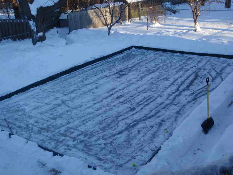 Backyard Ice Skating Rink Like In My Childhood.. My Dad Spent Many Hours  Doing This For Me.