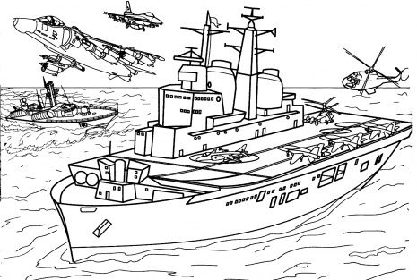 jet army man coloring pages | British Aircraft Carrier Invisible printable coloring ...