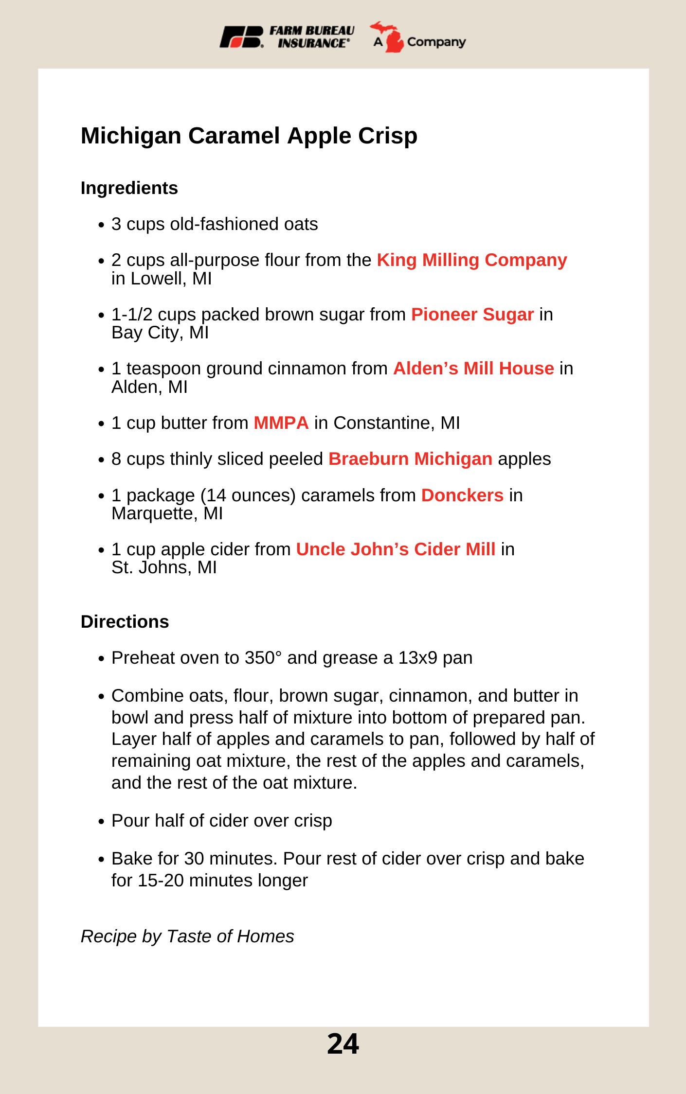 Michigan Caramel Apple Crisp in 2020 Caramel apple crisp