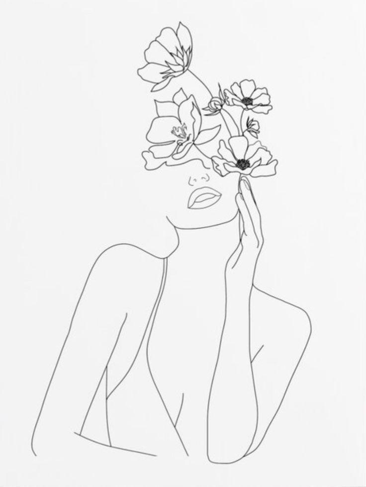 Blumenillustration - #Floral #Illustration # Tattoo-#blumenillustration #floral #illustration #tattoo