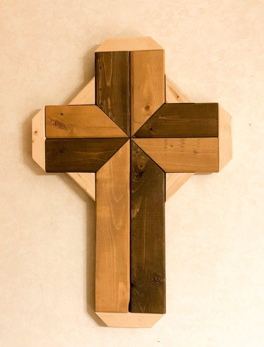Rustic Wood Cross Geometric Wall Art Dnm Woods Rustic Wood Wall Art Rustic Wood Cross Wood Crosses